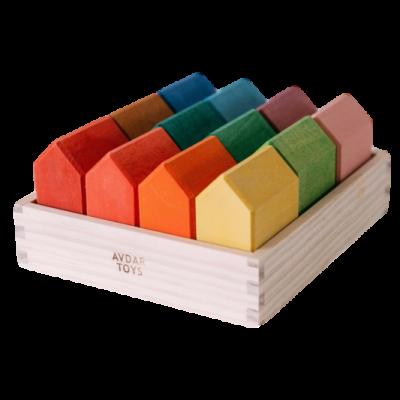 Rainbow House Blocks